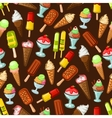 Ice cream desserts with fruits seamless pattern vector image vector image