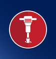 jackhammer Rounded squares icon button logo symbol vector image