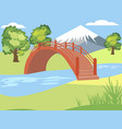 japanese garden nature park mountain background vector image vector image