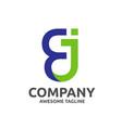 letter ej logo design vector image vector image