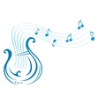 Lyre music vector image vector image