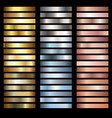 metals gradients vector image vector image