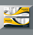 modern yellow wavy business banner design vector image vector image