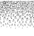 Music background with falling musical notes vector image vector image