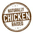 naturally raised chicken sign or stamp vector image vector image