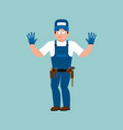 plumber guilty oops fitter culpable service vector image