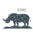 polygonal rhino geometric poster vector image