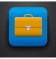 Portfolio symbol icon on blue vector image vector image