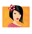 Portrait of a beautiful girl vector image vector image