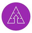 Pyramid with arrow up line icon vector image vector image