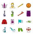 rastafarian icons doodle set vector image vector image