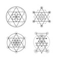 sacred geometry set vector image vector image