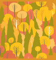 seamless autumn forest pattern fall vector image vector image