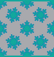 seamless pattern with snowflakes on gray vector image vector image