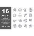 set 16 quality icons about ai iotfuture