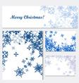 set corporate christmas identity templates vector image