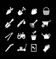 Set icons of garden vector image vector image