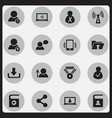 set of 16 editable web icons includes symbols vector image vector image