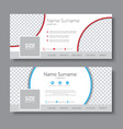 set of banners for the social network vector image vector image