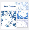set of corporate christmas identity templates vector image vector image