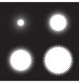 Set of White Sun Icons vector image vector image