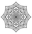 simple abstract mandala vector image vector image