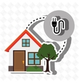 smart home with electric plug isolated icon vector image vector image