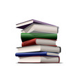 stack colorful books books various colors vector image
