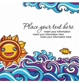 sun and waves vacation background vector image vector image