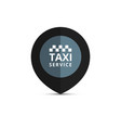 taxi cab logo design taxi point graphic icon vector image vector image