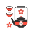 tea ceremony icon eps 8 vector image vector image