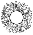 tropical round frame vector image vector image