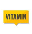 vitamin price tag vector image vector image
