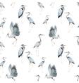 Watercolor heron pattern vector image vector image