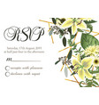 wedding floral invitation invite card rsvp vector image vector image