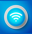 white wi-fi wireless internet network symbol icon vector image vector image