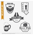 Beer pub set Brewing typographic labels logos vector image