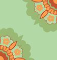 Ornamental corners flowers silhouette pattern vector image