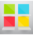 3d isolated empty colorful vector image vector image