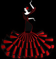 abstract flamenco dancer in the dark vector image vector image