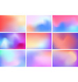 abstract multicolored blurred backgrounds blurred vector image