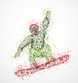 Abstract snowboarder2 vector image vector image