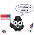 America First pledge vector image vector image