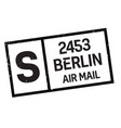berlin postage stamp vector image