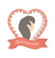 best mom ever heart female figure vector image vector image