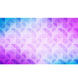 blue purple grid mosaic pattern triangle vector image vector image