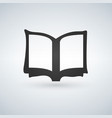 book icon on light background vector image vector image