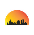 building silhouette sunsite logo vector image vector image