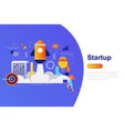 business startup modern flat concept vector image