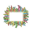 cactus card design of white frame saguaro vector image vector image